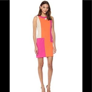 Calvin Klein sleeveless color block dress